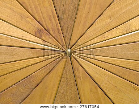 Wooden Segments Background.