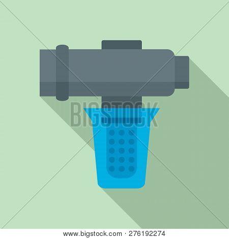 Hard Water Filtering Icon. Flat Illustration Of Hard Water Filtering Icon For Web Design