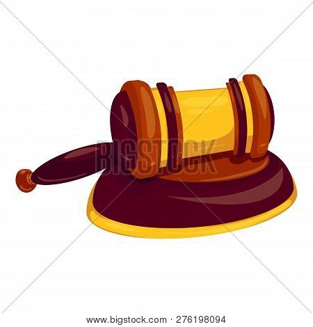 Bang Decision Gavel Icon. Cartoon Of Bang Decision Gavel Icon For Web Design Isolated On White Backg