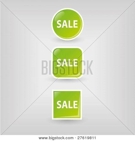 Verkauf-Schaltflächen