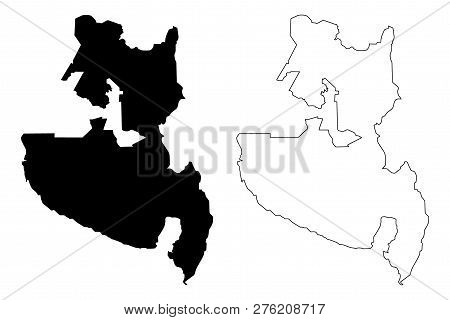 Soccsksargen Region (regions And Provinces Of The Philippines, Republic Of The Philippines) Map Vect