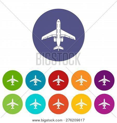 Passenger Plane Icon. Simple Illustration Of Passenger Plane Icon For Web