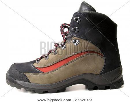 Fashion hiking boot isolated on white background
