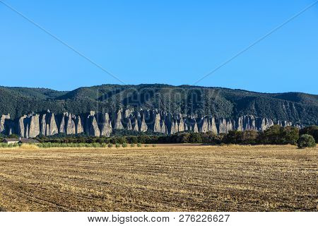 Famous Rock Landscape At Le Mees In The Provence