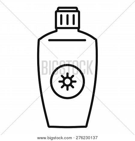 Uva Sunscreen Bottle Icon. Outline Uva Sunscreen Bottle Vector Icon For Web Design Isolated On White