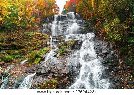 Amicalola Waterfalls In Georgia