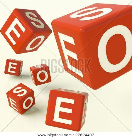 Seo Dice Representing Internet Optimization And Development