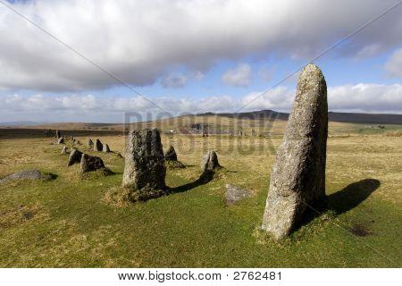 Merrivale Stone Row On Dartmoor