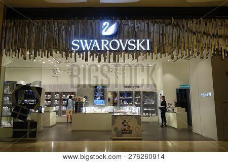 Genting Highlands, Malaysia- Dec 03, 2018 : Swarovski Fashion Store At Genting Highlands, Malaysia.