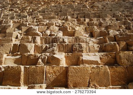 The Stone Blocks Of The Great Cheops Pyramid, Egypt