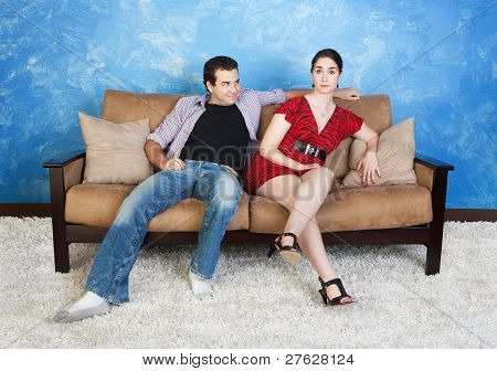 Young Man With Beautiful Woman