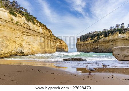 Beautiful Beach At Loch Ard Gorge Along The Great Ocean Road In Australia