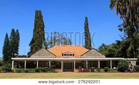 Nairobi - Kenya / October 2013: View Of Karen Blixen Old Farmhouse Which Currently Is A Museum Holdi