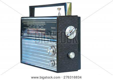 Old Soviet Radio Isolated On White Background