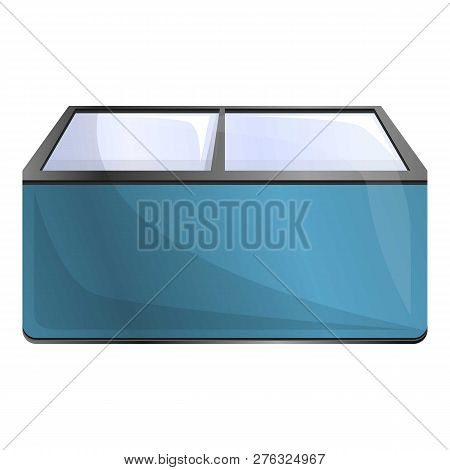 Commercial Freezer Icon. Cartoon Of Commercial Freezer Icon For Web Design Isolated On White Backgro