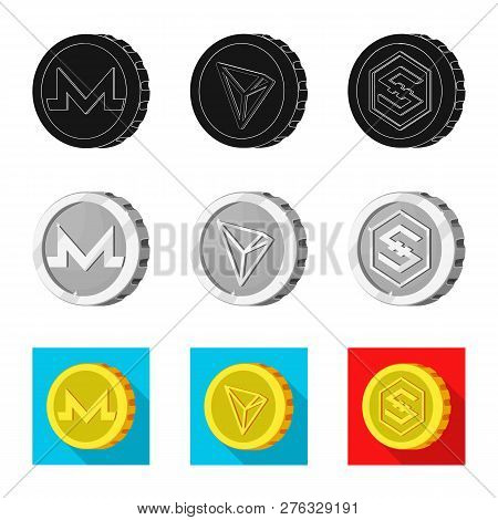 Vector Design Of Cryptocurrency And Coin Symbol. Set Of Cryptocurrency And Crypto Stock Vector Illus