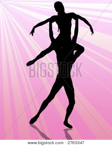 Dance Couple Pink