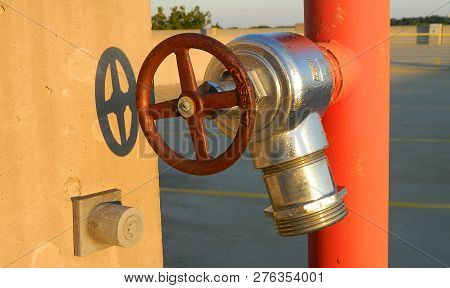 Emergency Fire Hose Spicket, Water Shutoff Valve