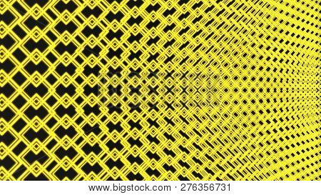 Colored Abstract Rotating Square Pattern Background - Seamless Loop Motion Graphic From Green Square