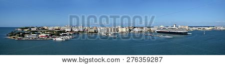 San Juan, Puerto Rico Seen From The Side Of The Water