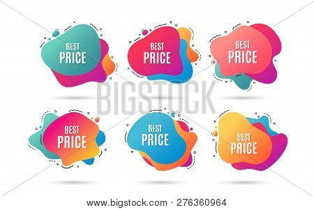 Best Price. Special Offer Sale Sign. Advertising Discounts Symbol. Abstract Dynamic Shapes With Icon