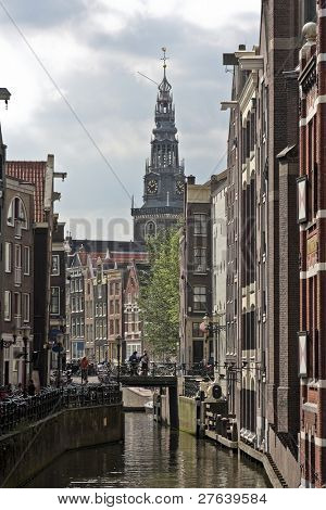 Amsterdam innercity in the Netherlands