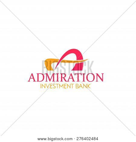 Admiration Investment Bank Vector Sign. Creative Bank Icon, Vector Design. Finance Concept Emblem, B