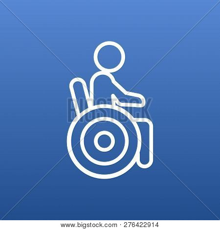 Isolated Disabled Icon Line Symbol On Clean Background. Vector Universal Access Element In Trendy St