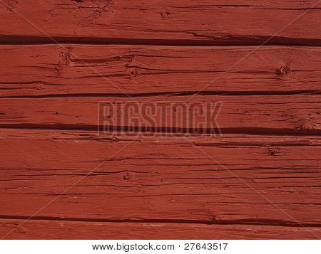 Red Beamed Wall