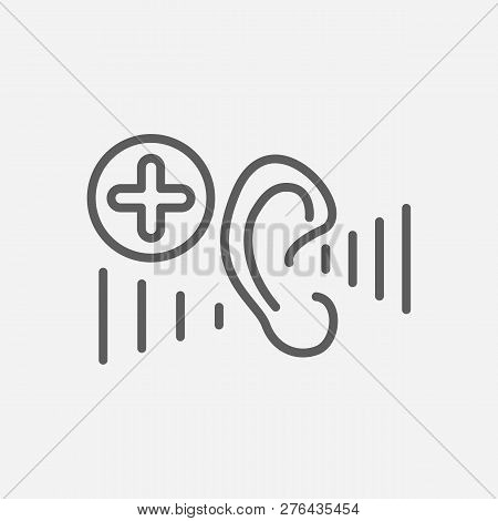 Audiology Icon Line Symbol. Isolated Vector Illustration Of  Icon Sign Concept For Your Web Site Mob