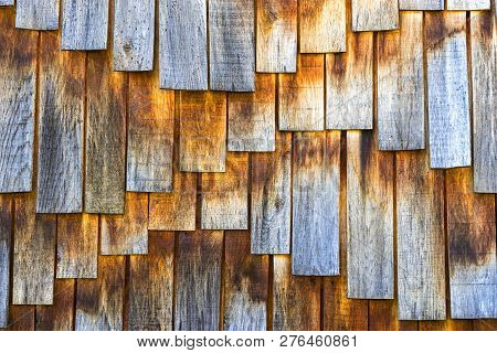 Natural Weathered Wooden Planks Texture Pattern Background