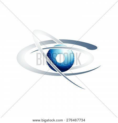 Vector Planet Logo. Satellite Logo. Cosmos Logo. Planet Best Logo. Planet Concept Logo. Planet Web L