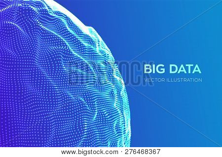 Abstract Bigdata Science Background. Sphere Grid Wave. Big Data Innovation Technology. Blockchain Ne