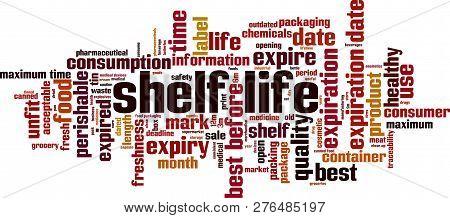 Shelf Life Word Cloud Concept. Vector Illustration On White