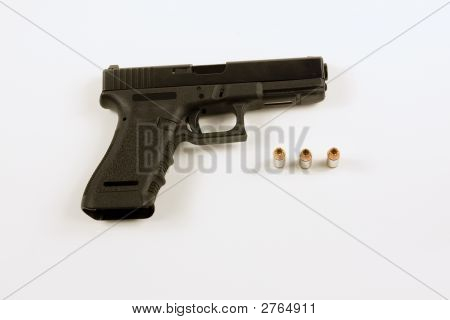 40Mm Handgun Isolated On White