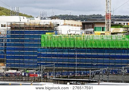 Gosford, New South Wales, Australia - November 4, 2018: Construction And Building Work On Gosford Ho