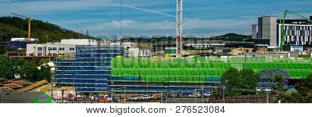 Gosford, New South Wales, Australia - November 13, 2018: Construction And Building Work On Gosford H