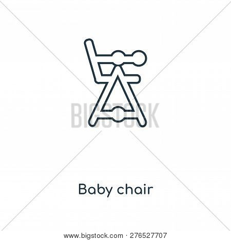 Baby Chair Icon In Trendy Design Style. Baby Chair Icon Isolated On White Background. Baby Chair Vec