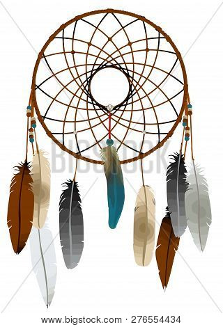 Dreamcatcher Native American Tribal Culture Mystery Illustration