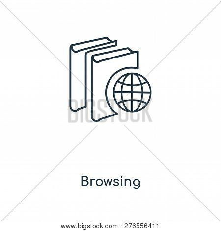 Browsing Icon In Trendy Design Style. Browsing Icon Isolated On White Background. Browsing Vector Ic