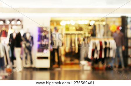 Blurred Picture Of Clothing Store Fashion Shop Inside Shopping Mall, Department Store Background, Cl