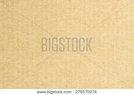 Texture Of  Brown Cardboard, Vertical Stripes, Abstract Background
