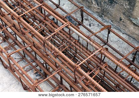 Steel bar, Rebar for construction,Rust on steel wire, Steel bar rust, Wire steel, Rebar rust poster