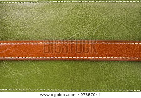 Texture Of Brown On Green Leather