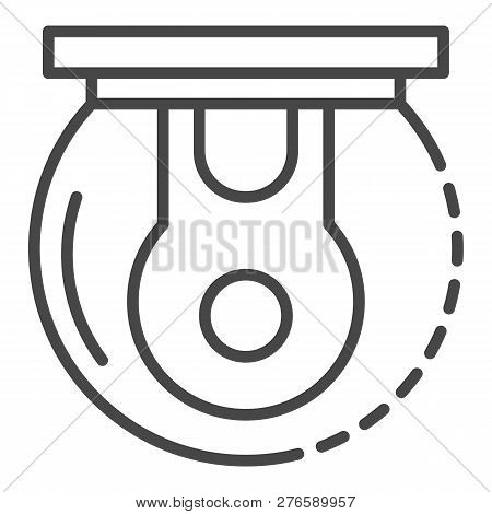 Outdoor 360 Camera Icon. Outline Outdoor 360 Camera Icon For Web Design Isolated On White Background