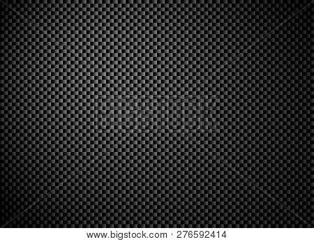 Dark Black Grey Carbon Fiber Texture Background