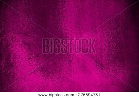 Shiny Metallic Foil With Pink Purple Color