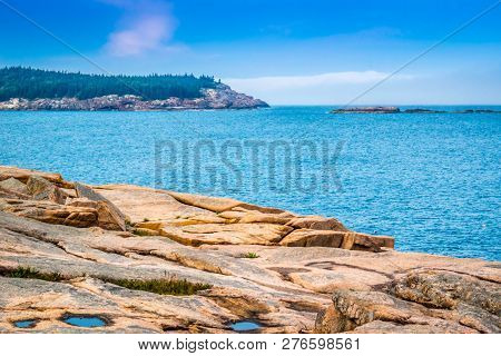 The Ocean Path Trail In Acadia National Park, Maine