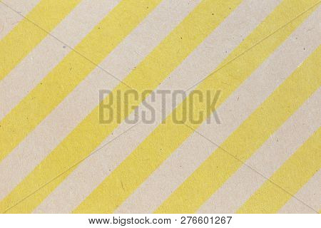 Yellow And Brown Recycled Paper Texture Or Paper Background. Seamless Paper For Design. Close-up Pap