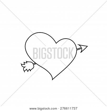 Black Outline Heart Image & Photo (Free Trial) | Bigstock